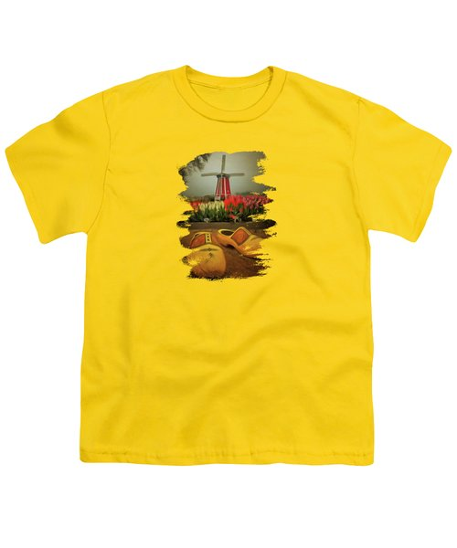 The Yellow Wooden Shoes Youth T-Shirt by Thom Zehrfeld
