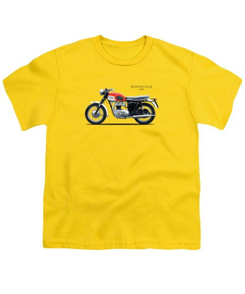 Triumph Bonneville 1966 Youth T-Shirt by Mark Rogan