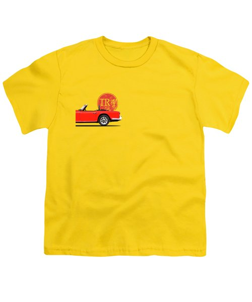 Triumph Tr4 Youth T-Shirt by Mark Rogan