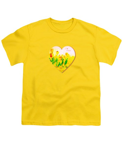 Tulips In Springtime-floral Painting By V.kelly Youth T-Shirt by Valerie Anne Kelly