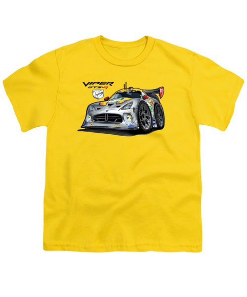 Viper Gts-r Car-toon Youth T-Shirt by Steven Dahlen