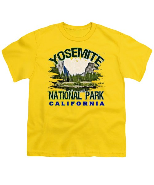 Yosemite National Park Youth T-Shirt by David G Paul