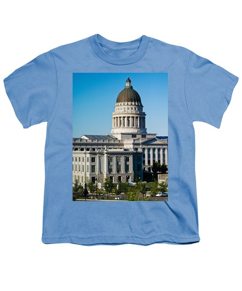 Utah State Capitol Building, Salt Lake Youth T-Shirt by Panoramic Images