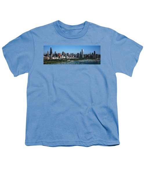 Aerial View Of Buildings In A City Youth T-Shirt by Panoramic Images