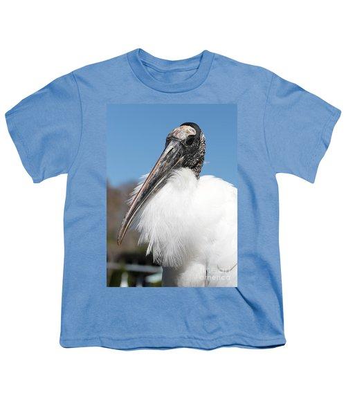 Fluffy Wood Stork Youth T-Shirt by Carol Groenen