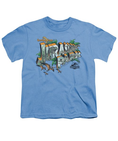 Jurassic Park - Greetings From Jp Youth T-Shirt by Brand A