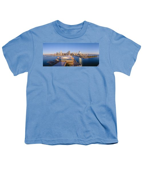 Navy Pier, Chicago, Morning, Illinois Youth T-Shirt by Panoramic Images