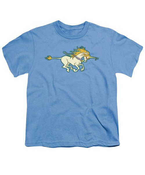 Charging Unicorn Youth T-Shirt by J L Meadows