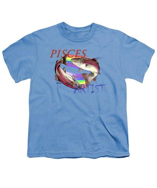 Pisces Artist Youth T-Shirt by Joseph Juvenal