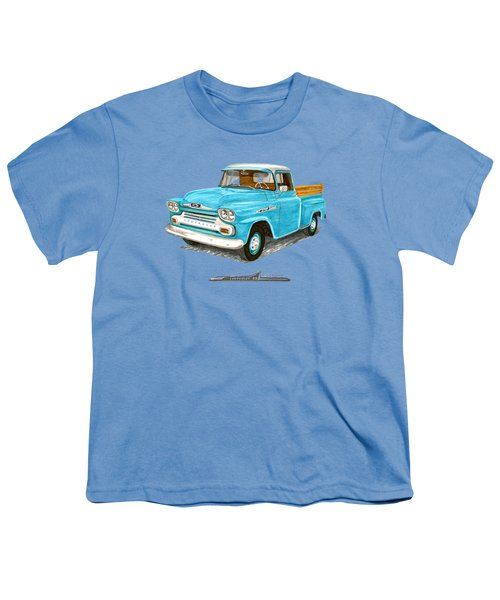 1958 Chevrolet Apache Pick Up Youth T-Shirt by Jack Pumphrey