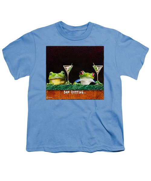 Bar Hopping... Youth T-Shirt by Will Bullas