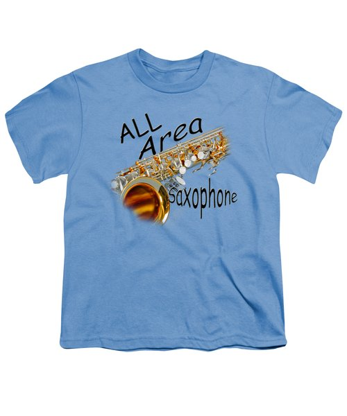 All Area Saxophone Youth T-Shirt by M K  Miller