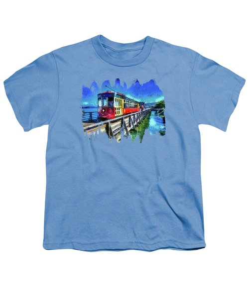 Astoria Riverfront Trolley Youth T-Shirt by Thom Zehrfeld