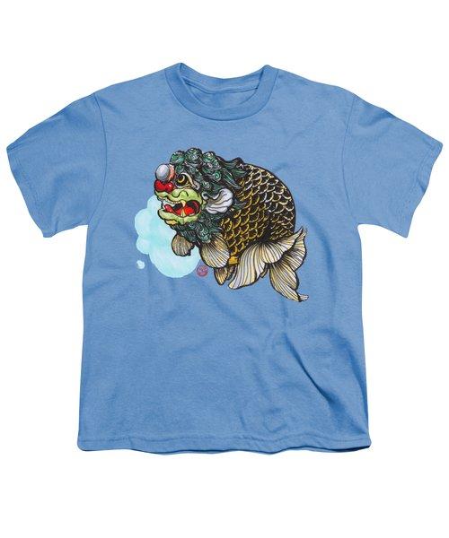 Lion Head Ranchu Youth T-Shirt by Shih Chang Yang