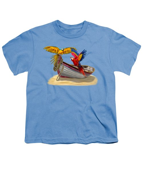 Parrots Of The Caribbean Youth T-Shirt by Glenn Holbrook