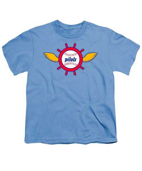 Seattle Pilots Retro Logo Youth T-Shirt by Spencer McKain