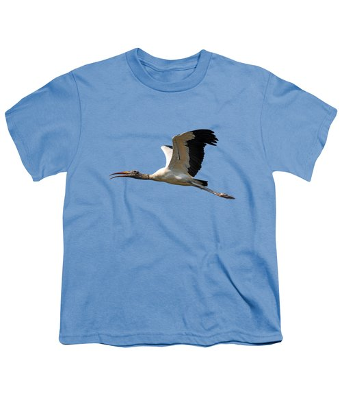 Sky Stork Digital Art .png Youth T-Shirt by Al Powell Photography USA