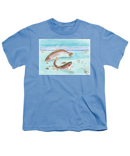 Spawning Rainbows Youth T-Shirt by Gareth Coombs