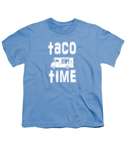 Taco Time Food Truck Tee Youth T-Shirt by Edward Fielding
