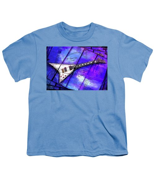 The Concorde On Blue Youth T-Shirt by Gary Bodnar
