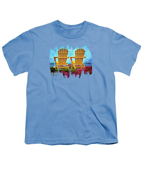 The Yellow Chairs By The Sea Youth T-Shirt by Thom Zehrfeld
