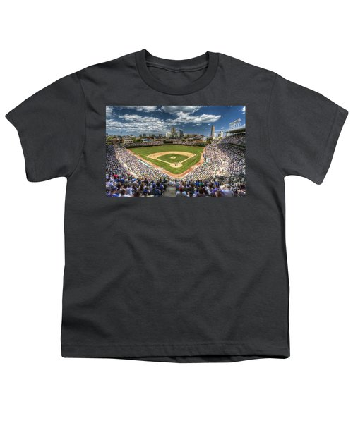 0234 Wrigley Field Youth T-Shirt by Steve Sturgill