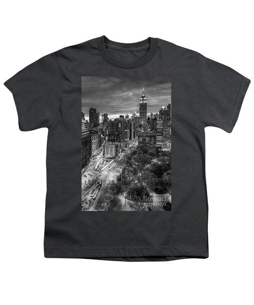 Flatiron District Birds Eye View Youth T-Shirt by Susan Candelario