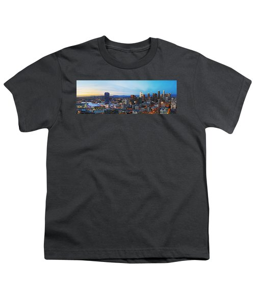 Los Angeles Skyline Youth T-Shirt by Kelley King