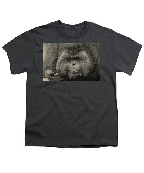 Bornean Orangutan II Youth T-Shirt by Lourry Legarde