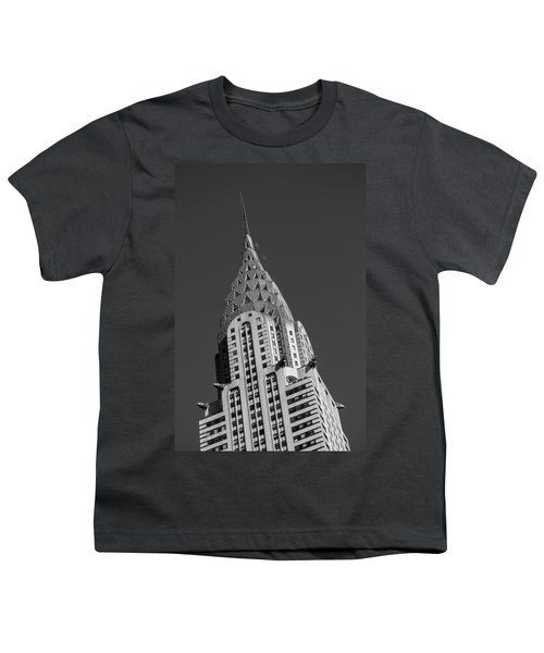 Chrysler Building Bw Youth T-Shirt by Susan Candelario