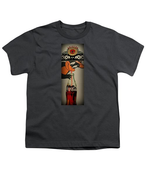 Coca Cola Orioles Sign Youth T-Shirt by Stephen Stookey
