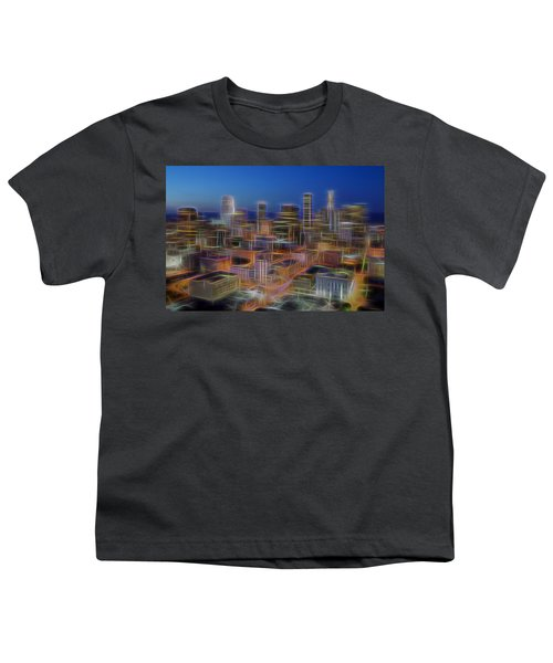 Glowing City Youth T-Shirt by Kelley King