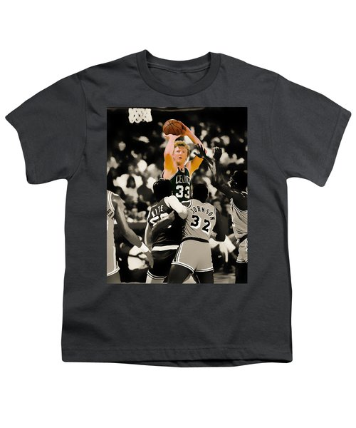 Larry Bird Youth T-Shirt by Brian Reaves