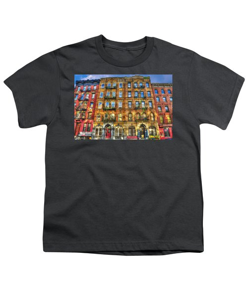 Led Zeppelin Physical Graffiti Building In Color Youth T-Shirt by Randy Aveille