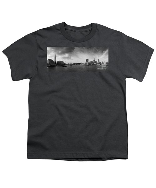 London City Panorama Youth T-Shirt by Pixel Chimp