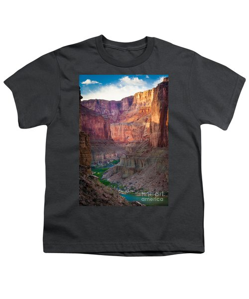 Marble Cliffs Youth T-Shirt by Inge Johnsson