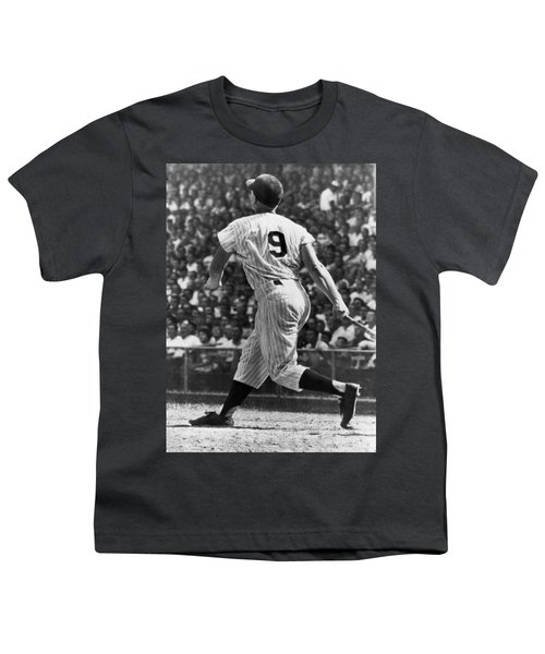 Maris Hits 52nd Home Run Youth T-Shirt by Underwood Archives