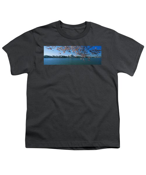 Monument At The Waterfront, Jefferson Youth T-Shirt by Panoramic Images