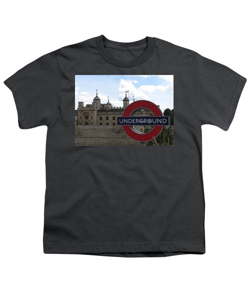 Next Stop Tower Of London Youth T-Shirt by Jenny Armitage