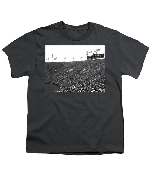 Notre Dame-usc Scoreboard Youth T-Shirt by Underwood Archives