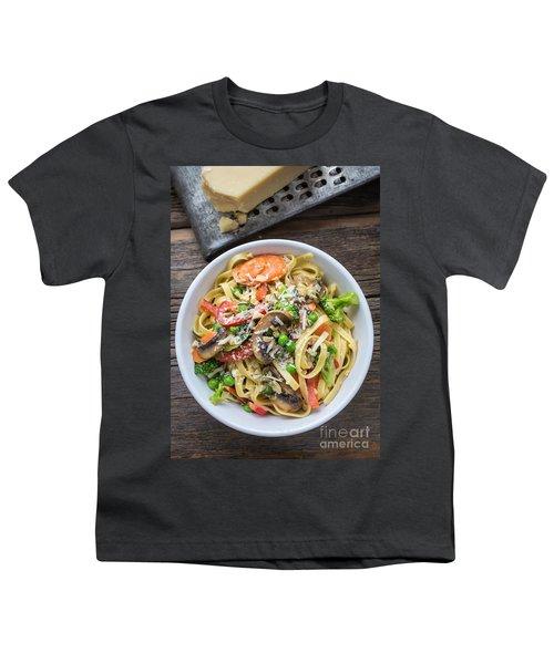 Pasta Primavera Dish Youth T-Shirt by Edward Fielding