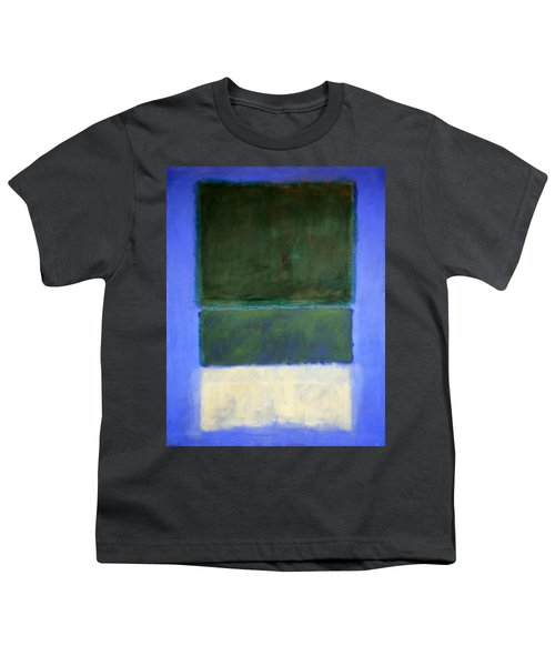 Rothko's No. 14 -- White And Greens In Blue Youth T-Shirt by Cora Wandel