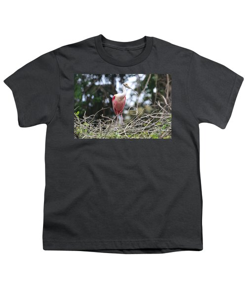 Spoonbill In The Branches Youth T-Shirt by Carol Groenen