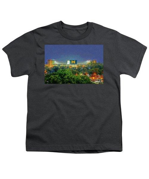 Stadium At Night Youth T-Shirt by John Farr