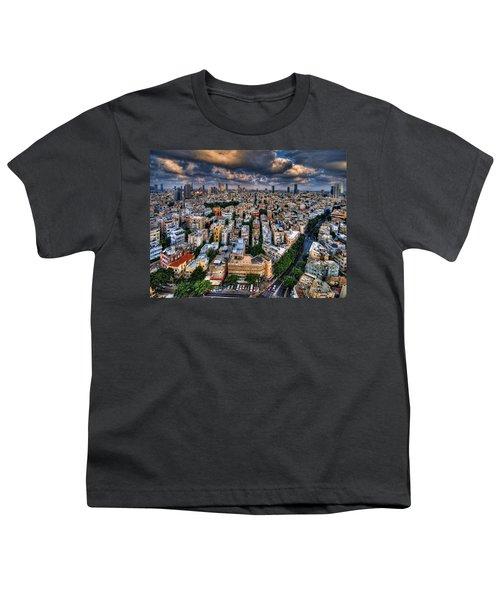 Tel Aviv Lookout Youth T-Shirt by Ron Shoshani