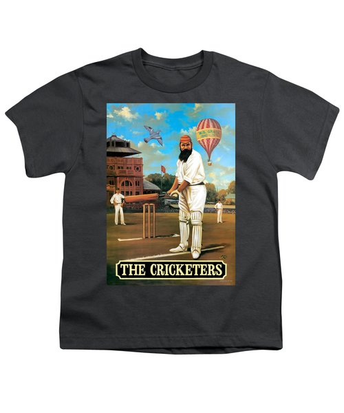 The Cricketers Youth T-Shirt by Peter Green