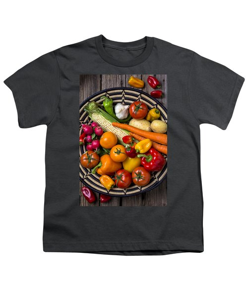 Vegetable Basket    Youth T-Shirt by Garry Gay
