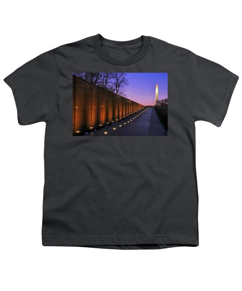Vietnam Veterans Memorial At Sunset Youth T-Shirt by Pixabay