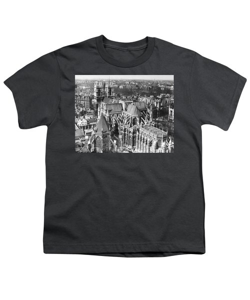 Westminster Abbey In London Youth T-Shirt by Underwood Archives