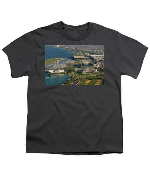Chicagos Lakefront Museum Campus Youth T-Shirt by Steve Gadomski